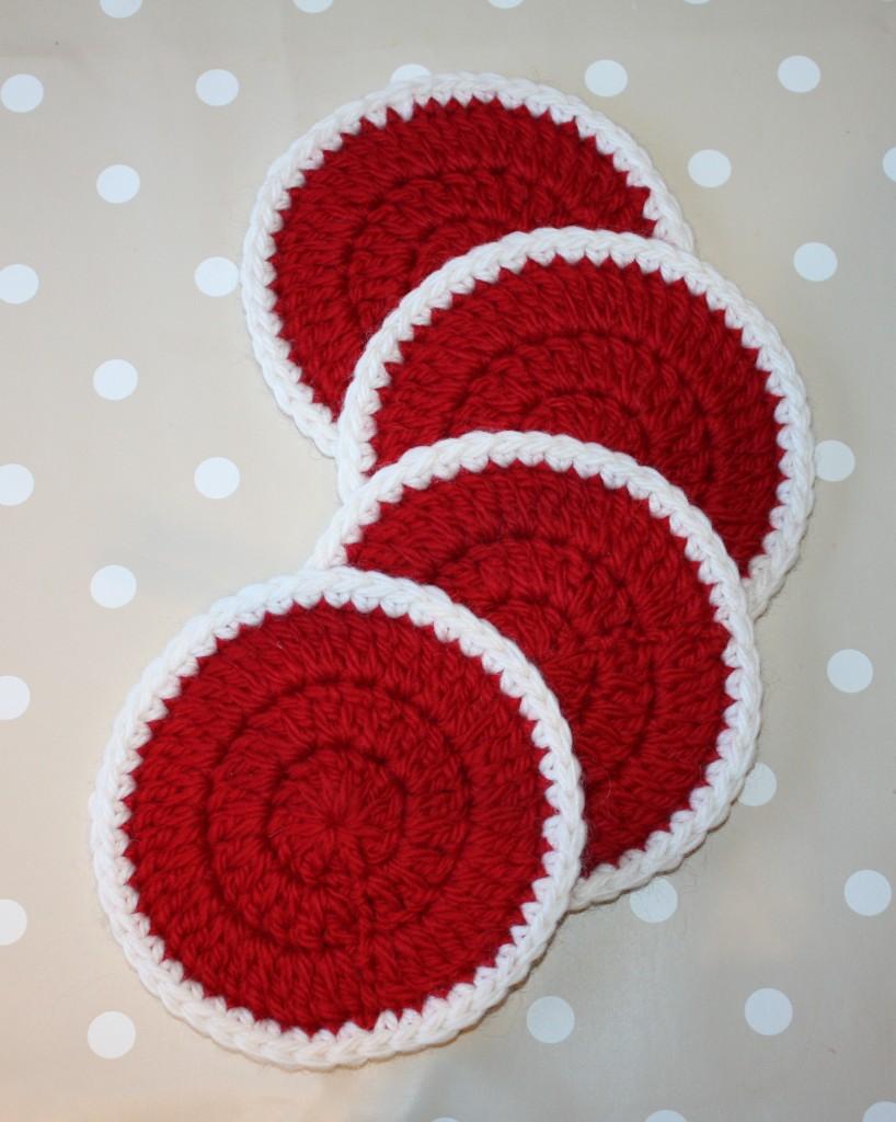 free crochet pattern round coaster