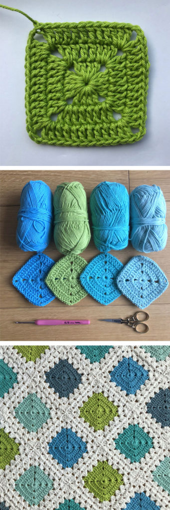 Three Row Solid Granny Square Blanket Motif - Free Crochet Pattern